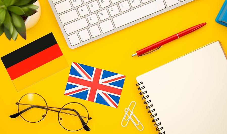 Traduction français anglais allemand