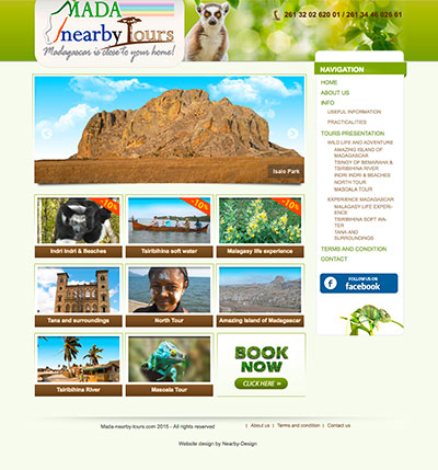 Création site internet vitrine France madagascar Suisse